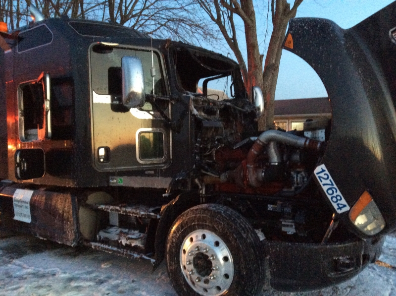 Madison Township Responds to Semi Fire